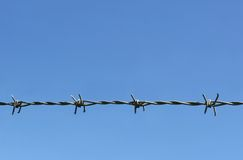 Barbed Barrier Stock Images