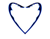 Barbed blue heart. Grunge heart in blue in the style of manga art Royalty Free Stock Photos
