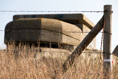 Barbed bunker Royalty Free Stock Image