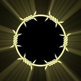 Barbed circle ring sun light flare Stock Image