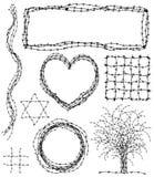 barbed elementów ilustracja wektor