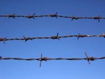 barbed fence Στοκ φωτογραφία με δικαίωμα ελεύθερης χρήσης