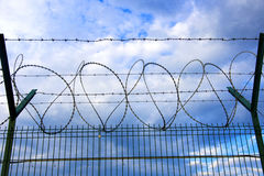 Barbed fence Stock Image