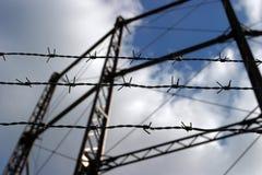 barbed focus selective wire Στοκ φωτογραφίες με δικαίωμα ελεύθερης χρήσης