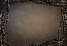Barbed frame Royalty Free Stock Photos