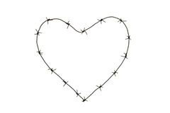 Barbed heart Stock Photography