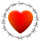 Barbed Heart White Royalty Free Stock Photo