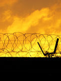 Barbed Perimeter Fence Royalty Free Stock Photos