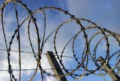 barbed razor security wire Στοκ Φωτογραφία