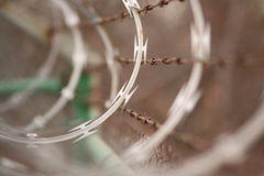 Barbed and razor wire Royalty Free Stock Images
