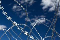 Barbed and razor wire Royalty Free Stock Photography