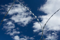 Barbed and razor wire Stock Photos