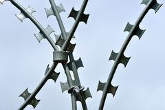 Barbed and razor wire for high security Royalty Free Stock Photography