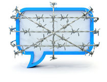 Barbed speech bubble Royalty Free Stock Photo