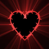 Barbed spiky heart red light flare Royalty Free Stock Photos