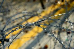 Barbed tape or razor wire Royalty Free Stock Photography