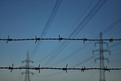 Barbed Voltage Stock Photos