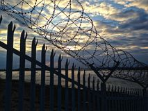 Barbed Welcome stock images