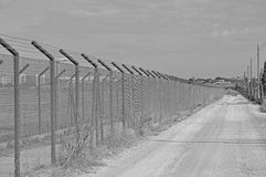 Barbed Wife Fencing Stock Images