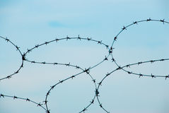 Barbed wire 01 Royalty Free Stock Photography