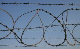 Barbed wire 1 Stock Images
