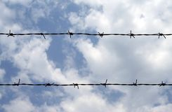 Barbed wire 1 Royalty Free Stock Photography