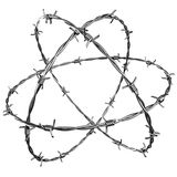 Barbed wire. 3d rendering of barbed wire, add something in the middle to create a strong concept Royalty Free Stock Photography