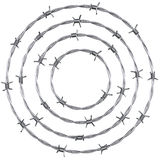 Barbed wire. 3d rendering of barbed wire in a circle Stock Photos