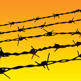Barbed Wire. Silhouette of some barbed wires Royalty Free Stock Photo