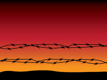 Barbed wire - 2 Royalty Free Stock Photos