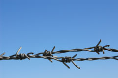 Barbed Wire. With sky on the background Stock Photo