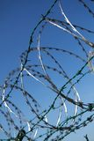 Barbed wire background Stock Photos