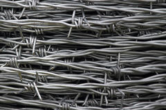Barbed wire background Royalty Free Stock Photography