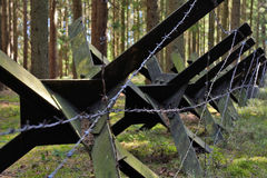 And barbed wire at the Bunker Stock Image