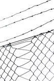 Barbed wire and chainlink fence Stock Photography