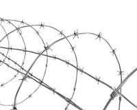 Barbed wire closeup Stock Image