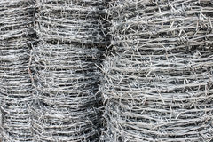 Barbed wire coil for sell Royalty Free Stock Image