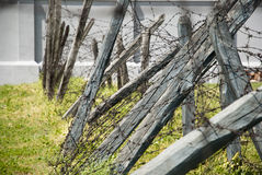 Barbed wire in concentation camp, Nis, Serbia Royalty Free Stock Image