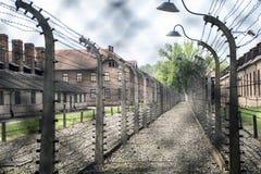 Barbed wire concentration camp Auschwitz Birkenau KZ Poland Stock Image