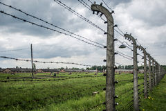 Barbed wire concentration camp Auschwitz Birkenau KZ Poland 2 Stock Images