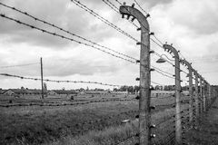 Barbed wire concentration camp Auschwitz Birkenau KZ Poland 5 Royalty Free Stock Images