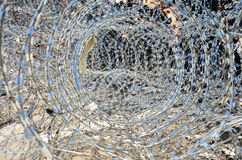 Barbed wire for Defence at bangkok Thailand Stock Images