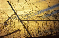 Barbed wire entanglement in Nicosia, Cyprus Royalty Free Stock Images