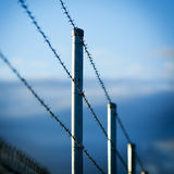 Barbed Wire Fence Stock Photos