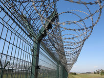Barbed wire,Fence Stock Image