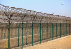 Barbed wire,Fence Royalty Free Stock Photography