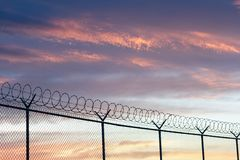 Free Barbed Wire Fence Royalty Free Stock Photo - 31902625