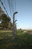 Barbed wire fence, Auschwitz concentration camp Royalty Free Stock Photography