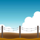 Barbed Wire Fence Background Royalty Free Stock Image