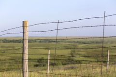 Barbed wire fence, Kansas Stock Image